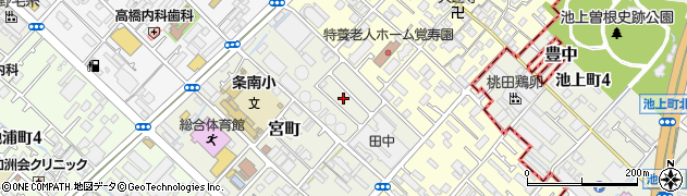 府警泉大津待機宿舎周辺の地図