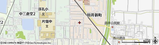 奈良県大和高田市田井新町周辺の地図