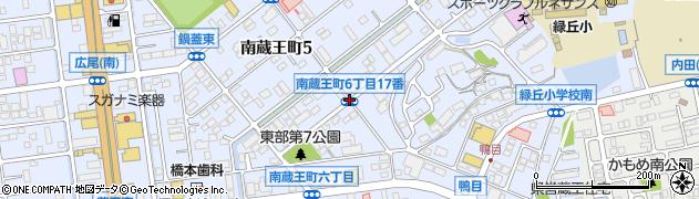 南蔵王町6‐17周辺の地図