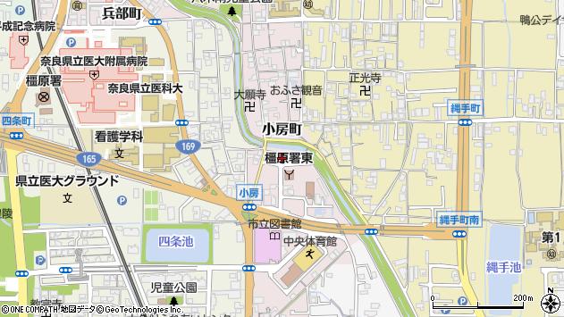 〒634-0075 奈良県橿原市小房町の地図