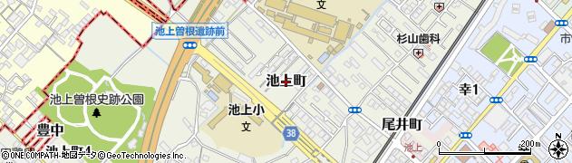大阪府和泉市池上町周辺の地図