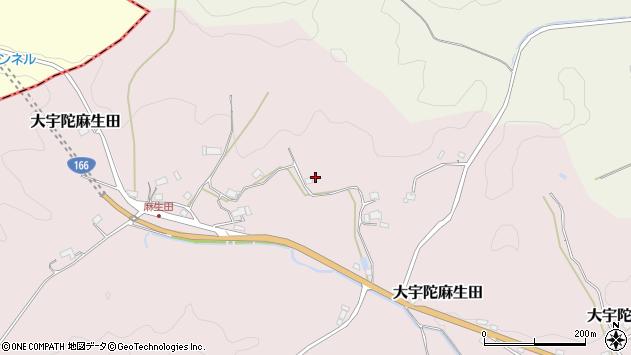 〒633-2105 奈良県宇陀市大宇陀麻生田の地図
