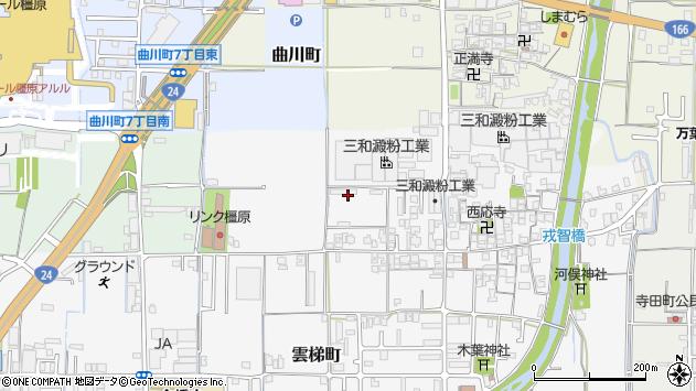 〒634-0834 奈良県橿原市雲梯町の地図