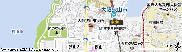大阪府大阪狭山市周辺の地図