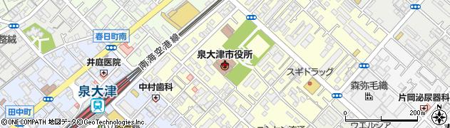 大阪府泉大津市周辺の地図