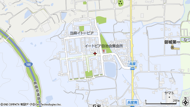〒639-2154 奈良県葛城市兵家の地図