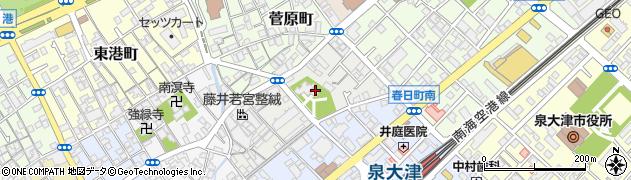 大津神社周辺の地図