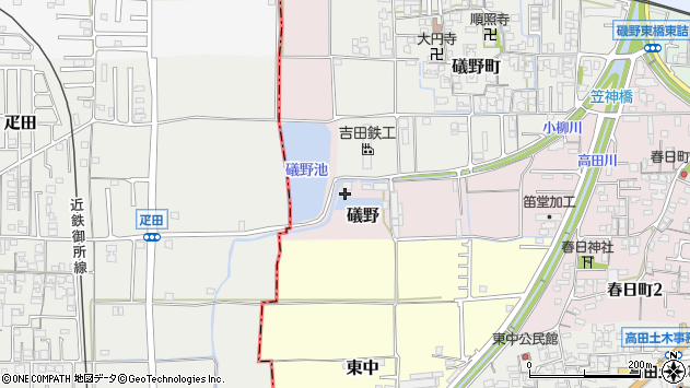 〒635-0093 奈良県大和高田市礒野町の地図