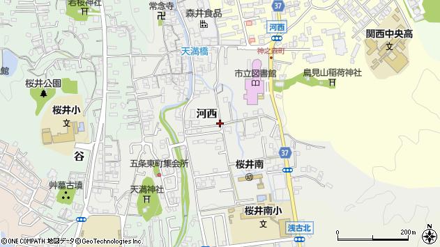 〒633-0051 奈良県桜井市河西の地図