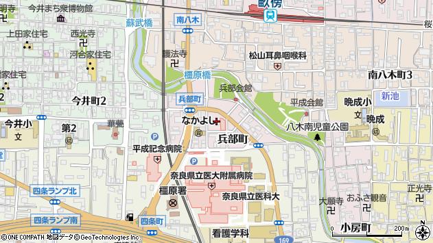 〒634-0076 奈良県橿原市兵部町の地図