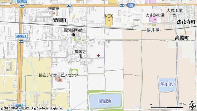 〒634-0072 奈良県橿原市醍醐町の地図