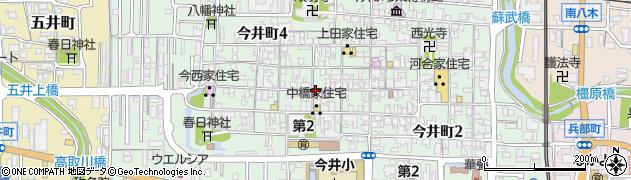 奈良県橿原市今井町周辺の地図