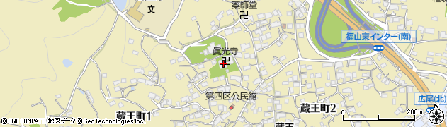 真光寺周辺の地図