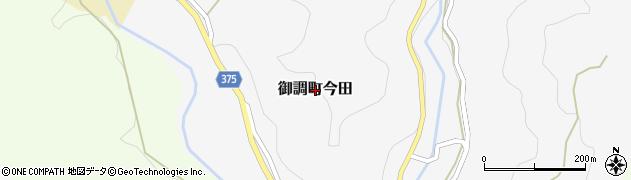 広島県尾道市御調町今田周辺の地図