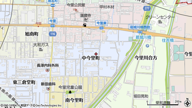 〒635-0037 奈良県大和高田市中今里町の地図