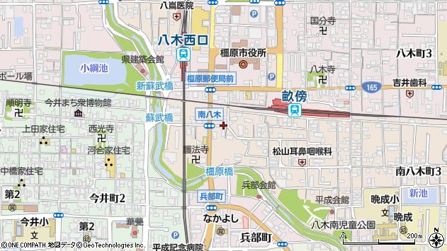 〒634-0077 奈良県橿原市南八木町の地図