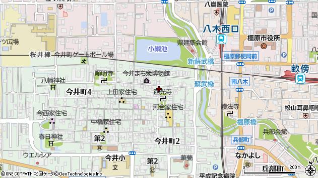 〒634-0812 奈良県橿原市今井町の地図