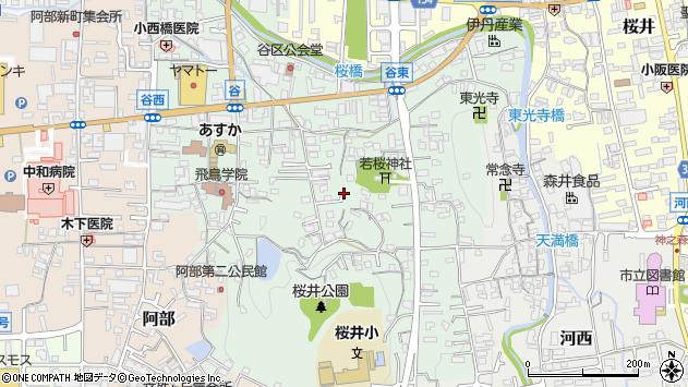 〒633-0053 奈良県桜井市谷の地図