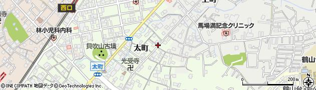 大阪府和泉市太町周辺の地図