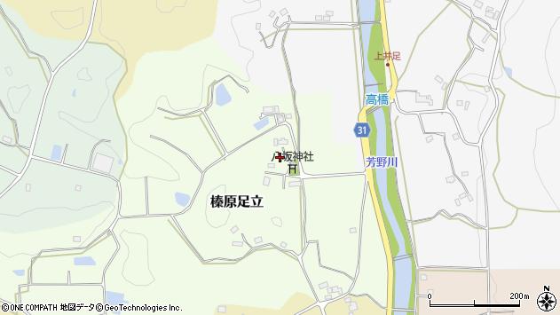 〒633-0231 奈良県宇陀市榛原足立の地図