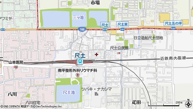 〒639-2162 奈良県葛城市尺土の地図