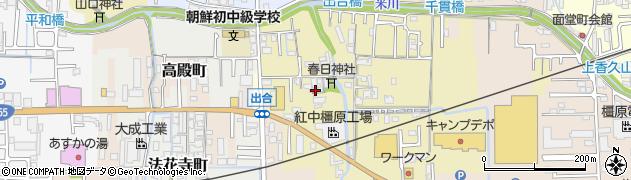 奈良県橿原市出合町周辺の地図