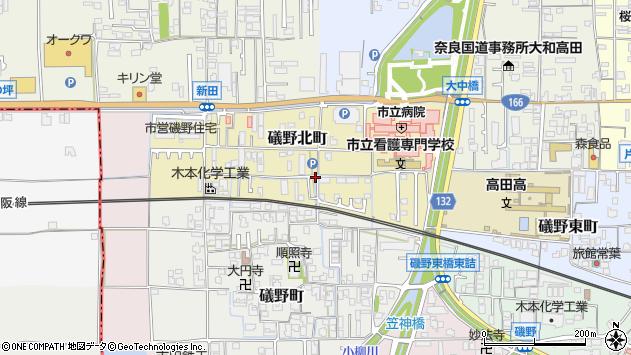 〒635-0094 奈良県大和高田市礒野北町の地図