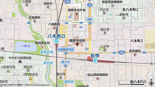 〒634-0000 奈良県橿原市(以下に掲載がない場合)の地図