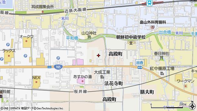 〒634-0028 奈良県橿原市法花寺町の地図