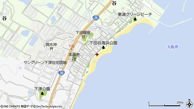 〒656-2333 兵庫県淡路市下田の地図