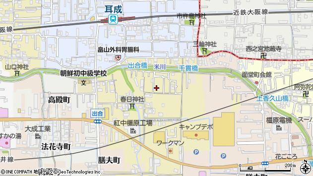 〒634-0013 奈良県橿原市出合町の地図