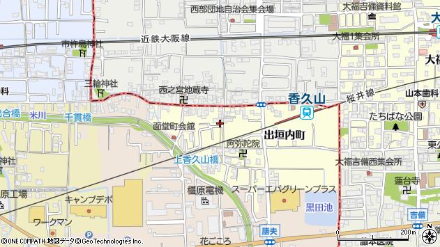 〒634-0011 奈良県橿原市出垣内町の地図