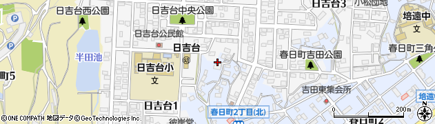 広島県福山市春日町(吉田)周辺の地図