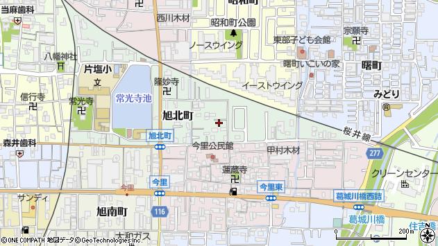 〒635-0036 奈良県大和高田市旭北町の地図