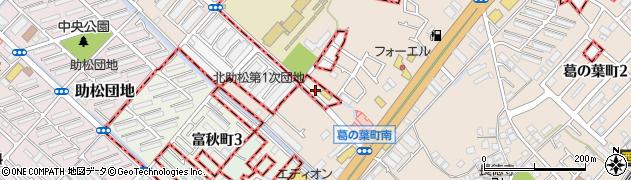 大阪府和泉市葛の葉町周辺の地図