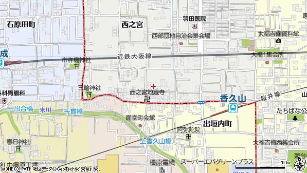 〒633-0066 奈良県桜井市西之宮の地図