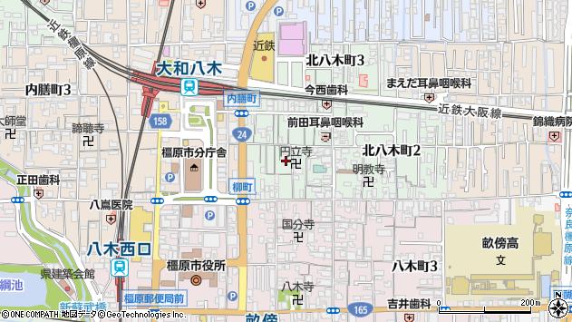 〒634-0005 奈良県橿原市北八木町の地図