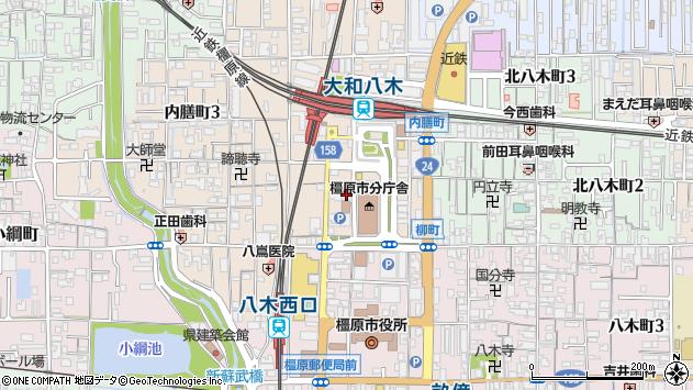 〒634-0804 奈良県橿原市内膳町の地図
