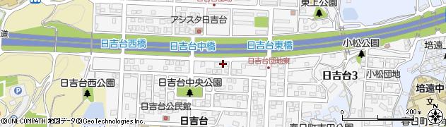 広島県福山市日吉台周辺の地図