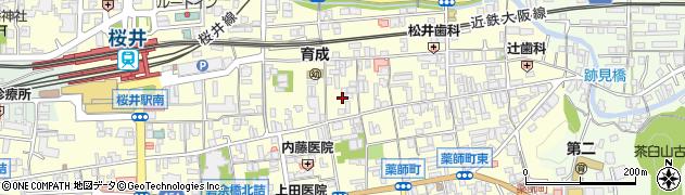 奈良県桜井市桜井周辺の地図