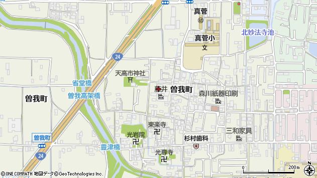 〒634-0831 奈良県橿原市曽我町の地図