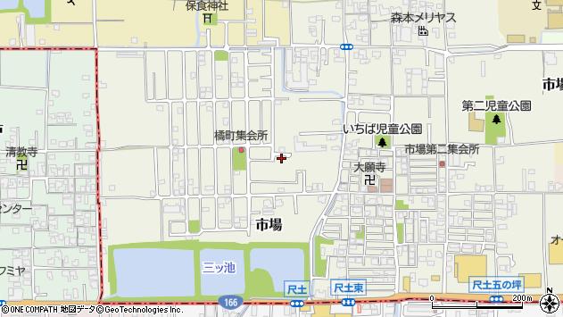 〒635-0074 奈良県大和高田市市場の地図
