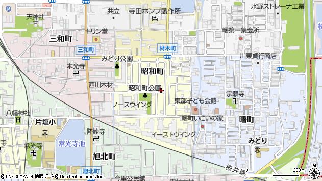 〒635-0013 奈良県大和高田市昭和町の地図