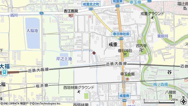〒633-0064 奈良県桜井市戒重の地図