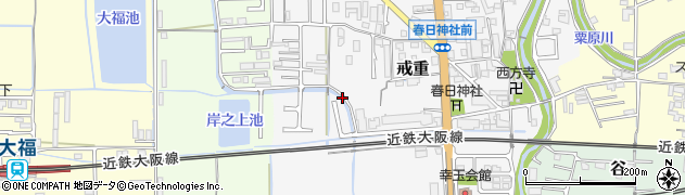 奈良県桜井市戒重周辺の地図