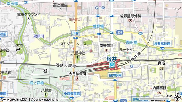 〒633-0063 奈良県桜井市川合の地図