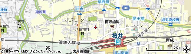 奈良県桜井市川合周辺の地図