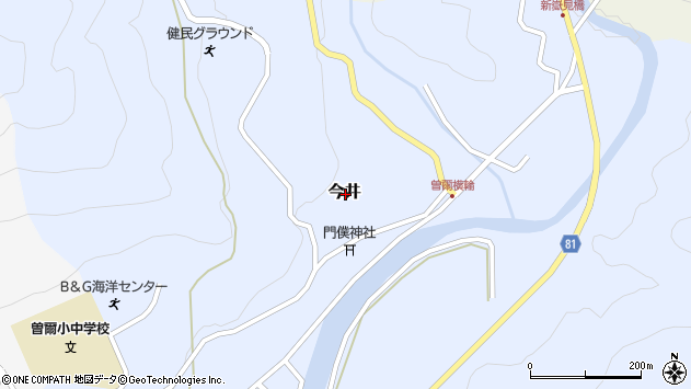 〒633-1212 奈良県宇陀郡曽爾村今井の地図
