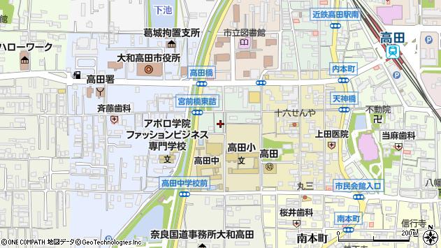〒635-0091 奈良県大和高田市大中東町の地図