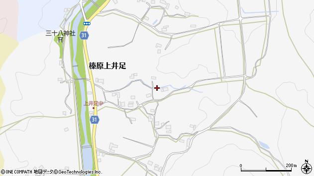 〒633-0222 奈良県宇陀市榛原上井足の地図